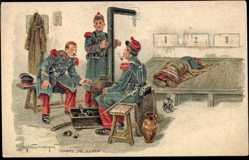 Künstler Ak Chaperon, Eugène, Corps de Garde, des soldats
