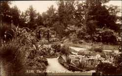 Postcard Lilford Hall East Midlands, The Rockery, Gartenanlagen