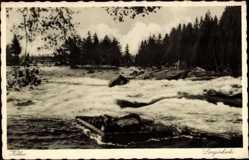 Postcard Kotka Südfinnland, Langinkoski, Reissender Strom im Fluss