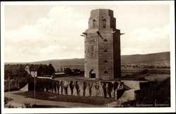 Postcard Friedberg in Hessen, Blick auf das Gefallenen Denkmal mit Umgebung