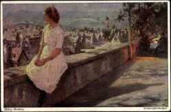 Künstler Ak Guillery, Franz, Frühlingserwachen, Junges Mädchen, Primus 3137