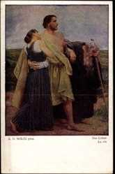 Künstler Ak Goltz, A.D., Das Leben, La Vie, Frau, Männer