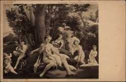 Künstler Ak Correggio, A.A., Leda mit dem Schwan, Kaiser Friedrich Museum Berlin