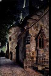Künstler Ak Giersberg, P., Schlitz Vogelsbergkreis, Ansicht der Kirche, nachts