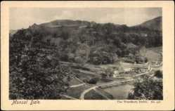 Postcard Monsal Dale East Midlands, Panoramic View, Village