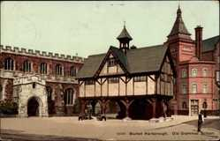 Postcard Market Harborough East Midlands England, Old Grammar School