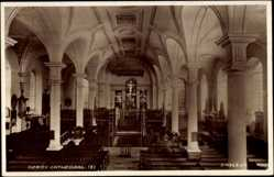 Postcard Derby East Midlands England, Cathedral, Interior View