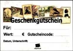 10€ Geschenkgutschein für Ansichtskarten, Marmoriert