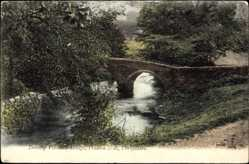 Postcard Derbyshire East Midlands, Dorothy Vernon's Bridge, Haddon Hall