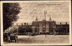 Postcard Baranawitschy Baranowitschi Nowa Weißrussland, Bahnhof