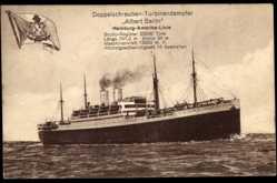 Postcard Doppelschrauben Turbinendampfer Albert Ballin, HAPAG