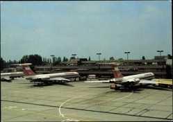 Postcard Berlin Schönefeld, Zentralflughafen, Interflug Passagierflugzeuge