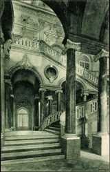 Postcard Schleißheim, Partie vom Treppenhaus des königlichen Schlosses