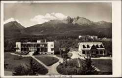 Postcard Hohe Tatra Slowakei, Blick auf Zipserheim und Morava