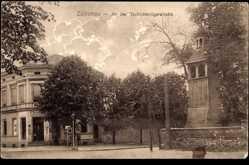 Ak Sulechów Züllichau Ostbrandenburg, An der Tschicherzigerstraße