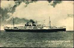 Postcard Compagnie de Navigation Mixte, Paquebot El Biar, Cie Touache