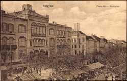 Postcard Belgrad Serbien, Piacz tér, Marktplatz, Wohnviertel