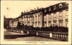 Postcard Ludwigsburg Baden Württemberg, Partie am Schloss