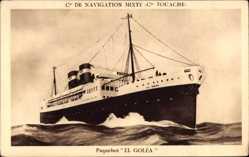 Postcard Paquebot El Golea, Dampfschiff auf See, Compagnie de Navigation Mixte