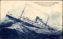 Postcard Paquebot SS Gouverneur General Cambon, Compagnie de Navigation Mixte