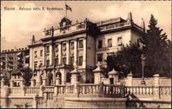 Postcard Fiume Kroatien, Palazzo della R. Prefettura, Palast