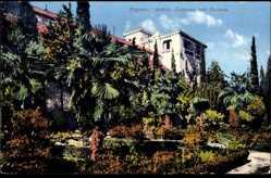 Postcard Ragusa Dubrovnik Kroatien, Blick auf Schloss Lacroma mit Palmen, Purger 8368