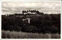 Postcard Marbach am Neckar, Blick aus der Ferne auf das Schiller National Denkmal