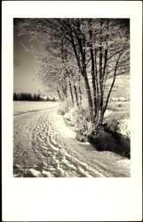 Foto Ak Winnenden Rems Murr Kreis, Verschneite Feldlandschaft