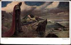 Künstler Ak v. Volborth, A., Tristans Tod, Tristan und Isolde
