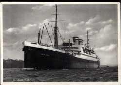 Postcard Dampfschiff New York der HAPAG, Ansicht Bug Backbord