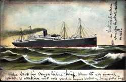 Postcard Dampfschiff Pennsylvania, HAPAG, Ansicht Steuerbord, Hochsee