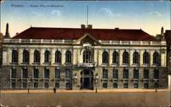 Ak Poznań Posen, Kaiser Wilhelm Bibliothek, Eingangstor