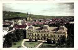 Foto Ak Vršac Werschetz Serbien, Vogelschau über den Ort, Kirche
