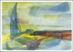 Künstler Ak 11. Klasse einer Rudolf Steiner Schule, Malübung, Landschaft