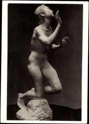 Ak Plastik von Edmund Moret, Gebet, Frauenakt, Wiener Künstlerhaus