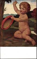 Künstler Ak Zumbusch, Ludwig von, Amor schlägt sein Tamburin