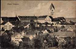 Postcard Scheyern, Blick auf den Ort und das Kloster, Uhrturm, Benediktinerabtei