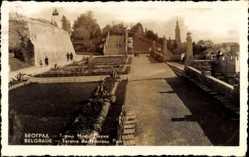Postcard Belgrad Serbien, Terasse du Nouveau Parc, Neuer Park, Anlagen, Treppe