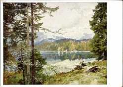 Künstler Ak Compton, Edward Harrison, Bergsee, HDK 174