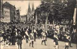 Ak Köln am Rhein, XX. Intern. Eucharistischer Kongress 1909, Studenten
