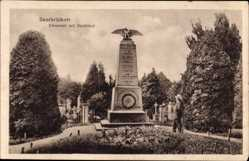 Postcard Saarbrücken im Saarland, Ehrental mit Denkmal, Adler