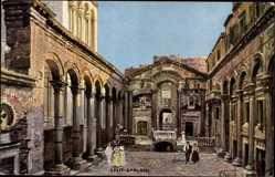 Künstler Ak Béraud, N., Spalato Kroatien, Der Diokletians Palast