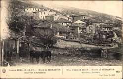 Postcard Bitola Mazedonien, Quartier d'Artiellerie, Nord de Monastir, Pferd, Häuser