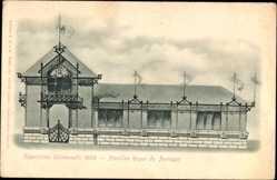 Cp Paris, Pavillon Royal du Portugal, Exposition Universelle 1900, Fassade