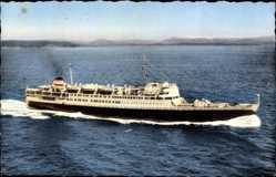 Postcard Paquebot El Djezair, Dampfschiff auf See, Compagnie de Navigation Mixte