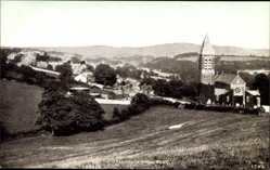 Postcard Tavistock South West England, View of the village from west, church