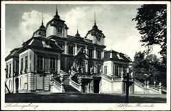 Postcard Ludwigsburg in Baden Württemberg, Schloss Favorite mit Freitreppe