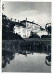 Postcard Schleißheim im Kreis München Oberbayern, Blick auf das neue Schloss, See