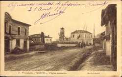 Postcard Verbeni Mazedonien, L'Eglise bombardée, Zerstörte Kirche