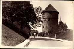 Postcard Tallinn Reval Estland, Harjuvärava mägi, Tor, Turm